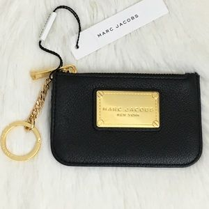 Marc Jacobs black and gold card & key holder